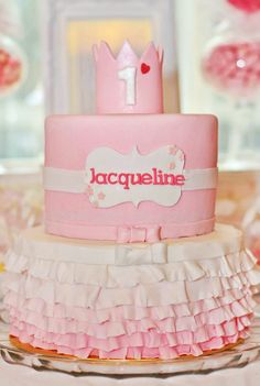 """Daddy's Little Princess"" Pink First Birthday Party // Hostess with the Mostess® Princess First Birthday, Pink First Birthday, Ballerina Birthday Parties, Ballerina Party, Princess Party, First Birthday Parties, First Birthdays, Birthday Ideas, Women Birthday"