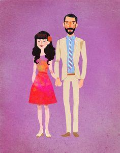 Custom portrait / cartoon style / print it yourself by mexcalline