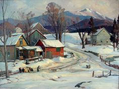 """Mount Mansfield, VT,"" Aldro T. Hibbard, oil on canvas, 30 x 40"", private collection."