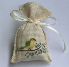 crochet - Lavender Scented Sachets, Scented Bags, Bird Motif Favors Sachets, Cross Stitch Favor Sachet, Cross Stitched Scented Sachets - Apocalypse Now And Then Hand Embroidery Patterns, Embroidery Art, Cross Stitch Embroidery, Cross Stitch Patterns, Lavender Bags, Lavender Scent, Scented Sachets, Palestinian Embroidery, Single Crochet Stitch