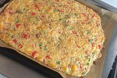 Schüttelpizza 1 Pizza Snacks, Party Finger Foods, Party Buffet, Quiche, Macaroni And Cheese, Breakfast, Ethnic Recipes, Strudel, Mascarpone