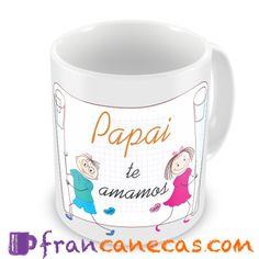 Caneca Personalizada pai te amamos  Ideal para presentearaquele super papai que você tanto ama e admira, afinal uma caneca personalizada é ...