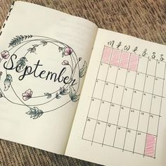 10 Bullet Journal September Cover Pages For Inspiration - Meraadi 10 Bullet Journal September Cover Pages For Inspiration - Meraadi Bullet Journal September Cover, Bullet Journal Goals Page, Bullet Journal Travel, Bullet Journal Monthly Spread, Bullet Journal Cover Ideas, Bullet Journal 2019, Bullet Journal Themes, Journal Covers, Bullet Journal Inspiration