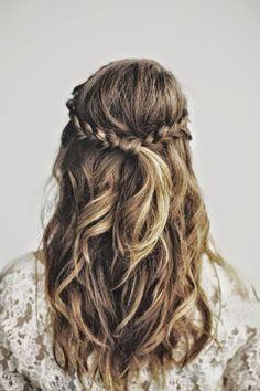 Gorgeous boho braid and waves www.mynava.co.uk