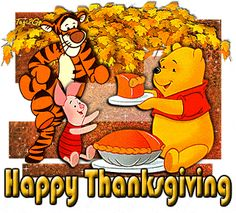 Happy Thanksgiving - Winnie-the-Pooh & Tigger Funny Thanksgiving Videos, Disney Thanksgiving, Thanksgiving Pictures, Thanksgiving Blessings, Thanksgiving Wallpaper, Thanksgiving Greetings, Thanksgiving Quotes, Holiday Pictures, Friends Thanksgiving
