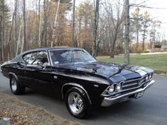 Chevrolet Chevelle SS w/454 engine. Dad had one!! His was all black. Loved that car!! #musclecars