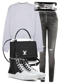 """""""Untitled #18640"""" by florencia95 ❤ liked on Polyvore featuring Citizens of Humanity, Acne Studios, Balenciaga and Banana Republic"""