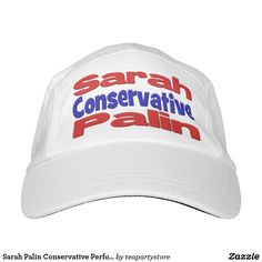 Sarah Palin Conservative Performance Hat,red&blue Headsweats Hat