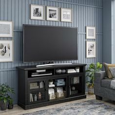 Find Ameriwood Home Chicago 65 , Black TV Stand, online. Shop the latest collection of Ameriwood Home Chicago 65 , Black TV Stand, from the popular stores - all in one Adjustable Shelving, Open Shelving, Sitting Room Decor, Sitting Rooms, Tv Stand Set, Black Tv Stand, Your Next Movie, Black Rooms, Weathered Oak