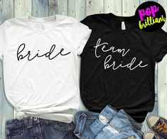 Team Bride Shirts Bridesmaid Shirts Bridal Party Tanks