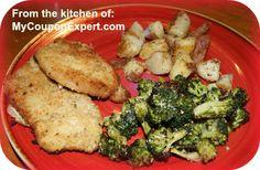 Italian Pork Chops with roasted Parmesan Broccoli