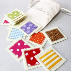 Matching Cards Busy Bags Fabric Memory Toddler Game by PopelineCo Felt Crafts, Kids Crafts, Diy Bebe, Color Games, Christmas Stocking Stuffers, Christmas Gifts, Matching Cards, Games For Toddlers, Montessori Materials
