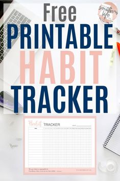Free Printable Habit Tracker – It's a Southern Life Y'all Use this free printable habit tracker to keep tack of and achieve your goals. This daily habit tracker will help you develop positive daily routines and accomplish your goals. Planner Pages, Printable Planner, Free Printables, Beauty Routine Checklist, Skincare Routine, Daily Routines, Daily Schedules, Morning Routines, Night Routine