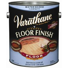 Varathane Floor Finish Satin Water-Based Polyurethane oz) at Lowe's. Varathane diamond floor finish is formulated with patented aluminum oxide Mano technology that outperforms leading national brands with superior scuff and Painted Floors, Painted Furniture, Furniture Makeover, Diy Furniture, Furniture Projects, Floor Finishes, Paint Finishes, Laminate Flooring, Flooring Ideas