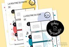 GRATUITS  Routine avant et après l'école. Routine How To Plan, Education, Kids, Photos, Maxime, Montessori, Communication, Prince, Anna