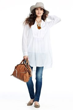 Annette Pintuck Tunic- lightweight pintuck embellished tunic   a classic with feminine details   pleated pintuck button placket   shirttail hem, unstructured shirt collar   single button closure at cuff