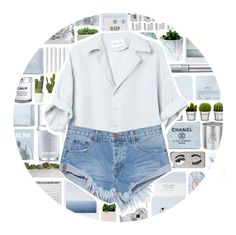 """""""Summer Camp"""" by xgracieeee ❤ liked on Polyvore featuring Laura Ashley, Dogeared, Acne Studios, Chanel, Blink, Polaroid, Fresh, Chen Chen & Kai Williams, Kurt Geiger and Topshop"""