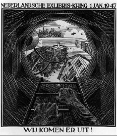 New Year's Greeting Card - M.C. Escher, 1946