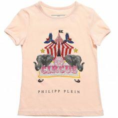 Girls Cotton 'Elephant Circus' T-Shirt