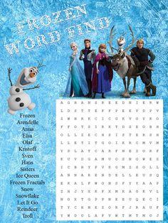Frozen Word Search