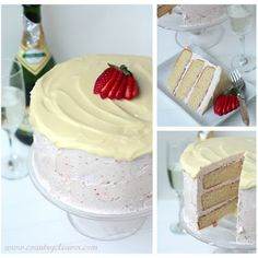 Strawberries and Champagne Cake