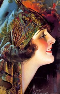 vintage rolf armstrong | ROLF ARMSTRONG
