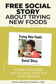 Looking for free social stories to help your picky eater? Then you'll love this free printable trying new foods social story. It features full color photos. It's great for preschoolers and/or kids with autism or sensory issues. Social Skills Lessons, Social Skills Activities, Teaching Social Skills, Sensory Activities, Classroom Activities, Autism Classroom, Autism Parenting, Parenting Memes, Autism Quotes
