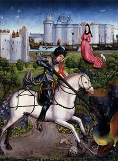 Saint George and the Dragon, ca.1480-1490, no further info.