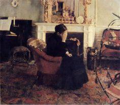 Fernand Khnopff, Listening to Schumann, 1866 .
