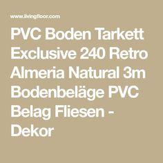 PVC Boden Tarkett Exclusive 240 Retro Almeria Natural 3m Bodenbeläge PVC Belag Fliesen - Dekor
