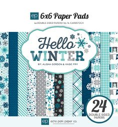 echo park HW95023 6x6 PaperPad Cover Hello Winter