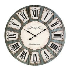 IMAX Sabra Wall Clock - 37039. IMAX Sabra Wall Clock - 37039 Modem clock offers some traditional design features, this clock is perfect anywhere from industrial dcor to shabby chic Product Specifications Dimensions x 23.75 D (inches) Item weight 4.4 lb.. . See More Clocks at http://www.ourgreatshop.com/Clocks-C722.aspx