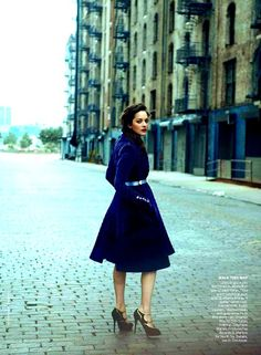 Marion Cotillard, Vogue 2012 - I can't even describe how badly I want this coat. So much wanting! I think it is spectacular.