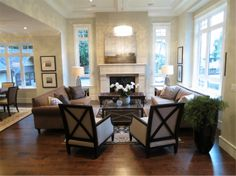 West Vancouver Luxury Home Living Room