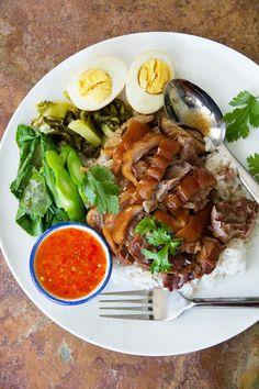 nongs khao man gai and khao kha mu , Stewed Pork Hocks on Rice (Khao Kha Mu ข้าวขาหมู) by Nong of Nong's Khao Man Gai
