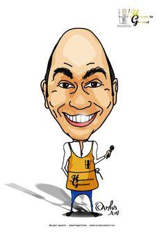 Humorista Gourmet - António Lopes | Ricardo Campus - Caricaturas Cartoons e Ilustração