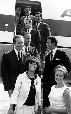 Marlon Brando:    Heading for the Civil Rights march on Washington in 1963 with Harry Belafonte, James Garner, Tony Franciosa and Charlton Heston.
