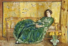 Childe Hassam - April (The Green Gown) 1920
