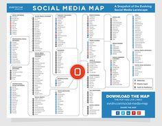 Social Media Map 2016: tutte le risorse per il Social Media Manager - social network, tools, piattaforme, blog, e app immancabili -