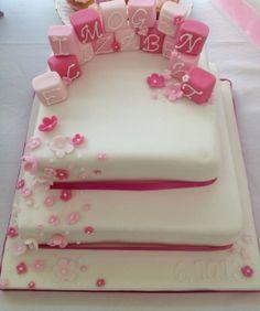 Pink Building black cake