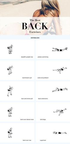 Top 10 Back Exercises For Posture, Tone & Strength – Body Workout Body Fitness, Fitness Goals, Fitness Motivation, Health Fitness, Women's Health, Fitness Plan, Exercise Motivation, Good Back Workouts, At Home Workouts