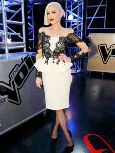 Gwen Stefani's Best Fashion Moments from Season 9 of The Voice - LADY IN LACE   - from InStyle.com