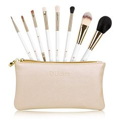 DUcare 8Pcs Travel Makeup Brush Set Goat Synthetic Professional Foundation Eyeshadow with Bags *** Be sure to check out this awesome product.