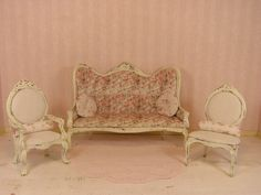 Shabby Chic Dollhouse Miniature One Inch Scale by MostlyMinis, $37.00