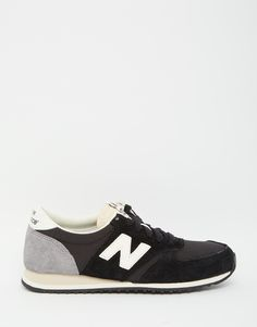 Image 2 ofNew Balance Black Suede 420 Trainers