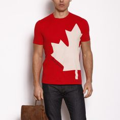 Roots Tee | Sport this maple leaf shirt from Canada's very own #Roots this Canada Day. And shop for it through airmilesshops.ca to earn reward miles! #airmiles #canadaday