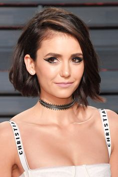 Short, Wavy Hairstyles That Will Make You Ditch Your Flatiron - Nina Dobrev from InStyle.com