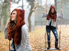 Hood and scarf in one, LOVE it!
