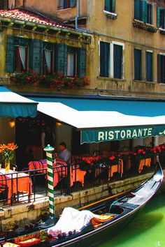 stay in Italy & get a water taxi to a ''ristorante'' check [   ]