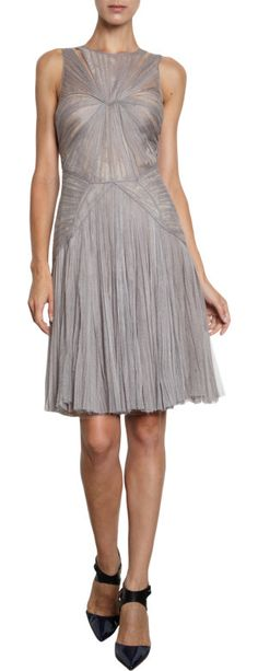 J. Mendel Pleated Tulle Dress at Barneys.com- If it was in white...